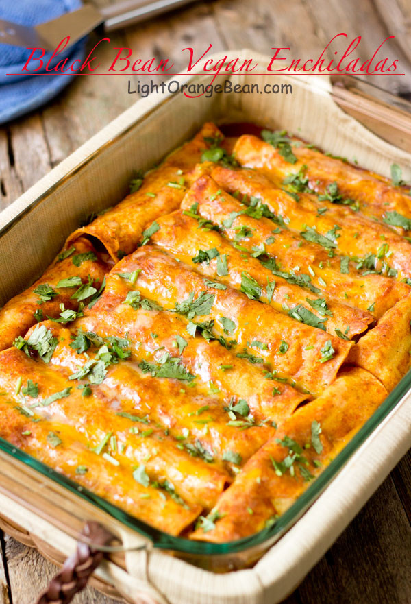 Vegetarian Black Bean Recipes  Black Bean Vegan Enchiladas
