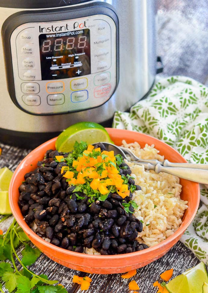 Vegetarian Black Bean Recipes  Seasoned Pressure Cooker Black Beans Instant Pot A