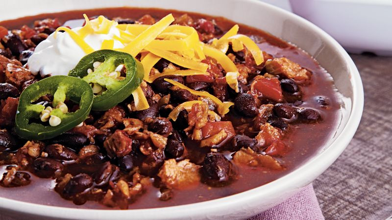 Vegetarian Black Bean Recipes  Ve arian Black Bean Chili recipe from Betty Crocker