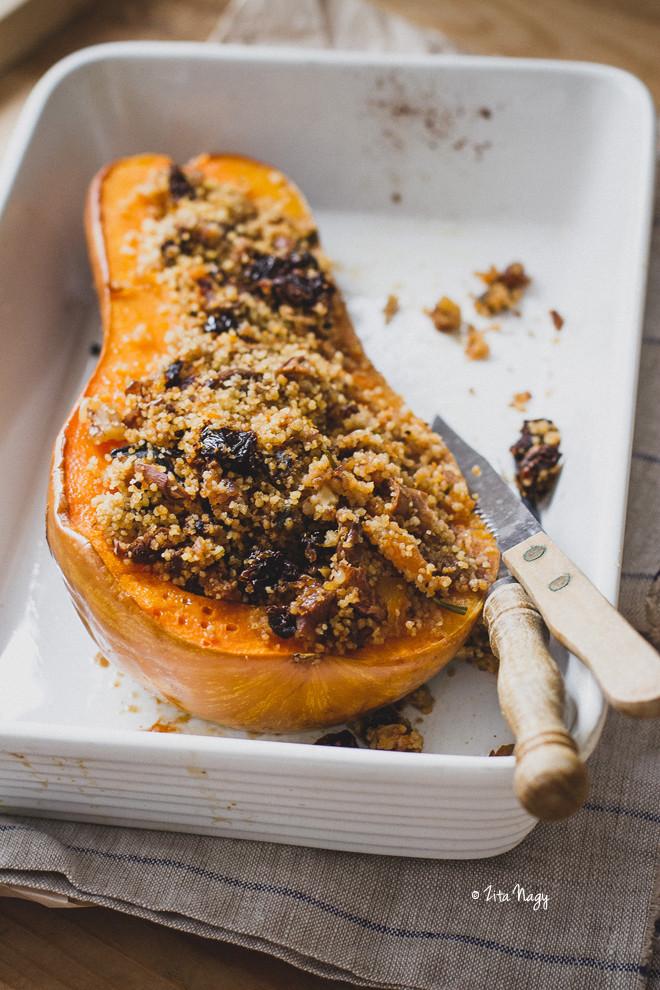 Vegetarian Butternut Squash Recipes  Vegan Stuffed Butternut Squash with Mushrooms and Couscous