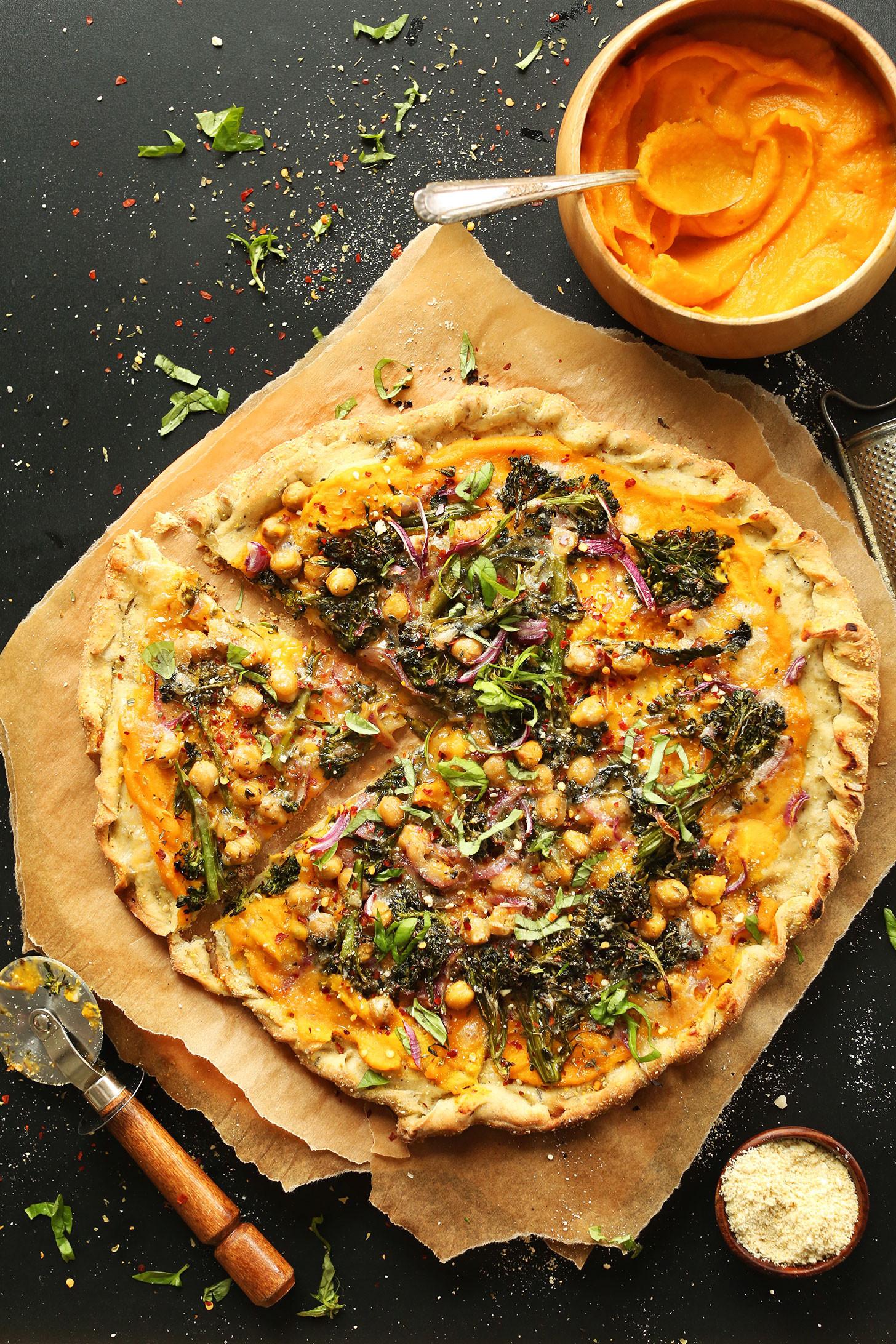 Vegetarian Butternut Squash Recipes  Butternut Squash Veggie Pizza