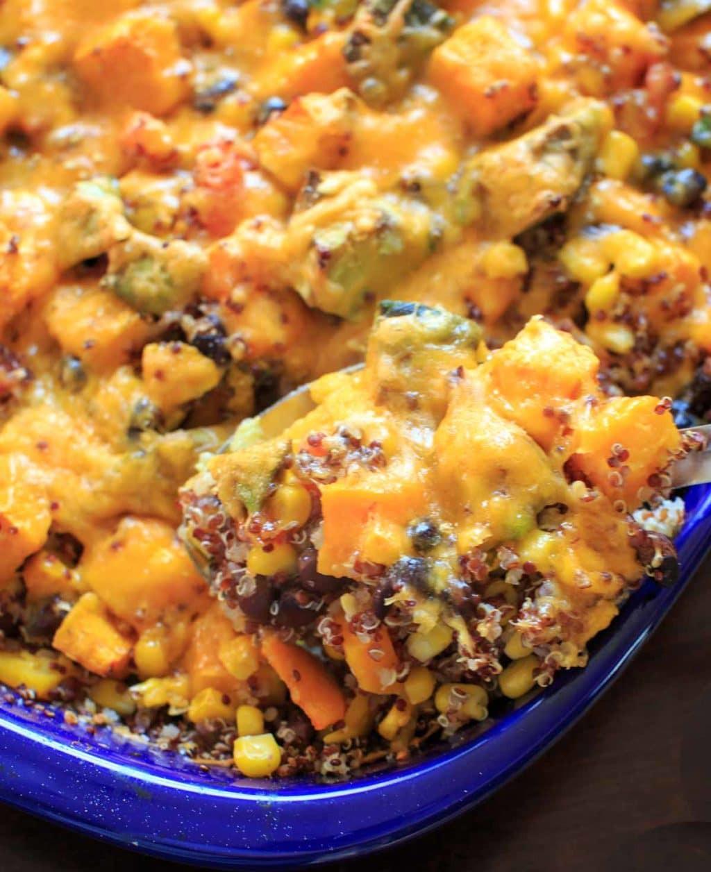 Vegetarian Butternut Squash Recipes  Butternut Squash Quinoa Casserole vegan friendly gluten