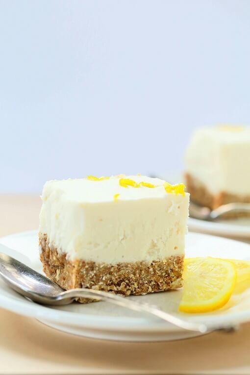 Vegetarian Cheese Cake  No Bake Lemon Cheesecake Recipe Gluten Free Vegan The