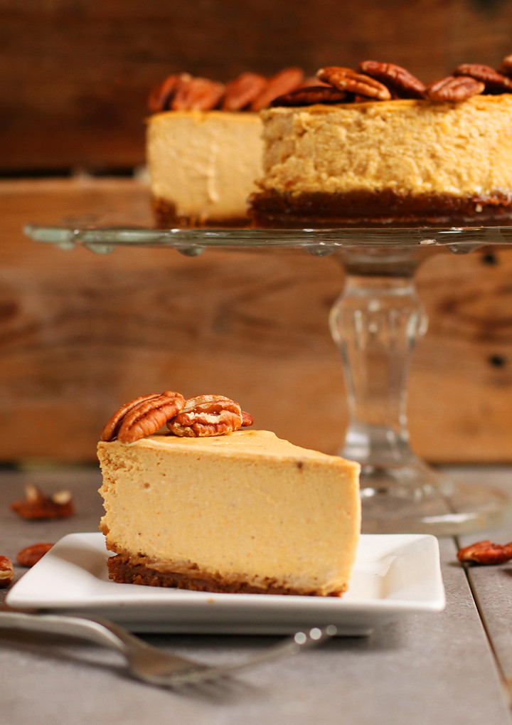 Vegetarian Cheese Cake  Vegan Pumpkin Cheesecake