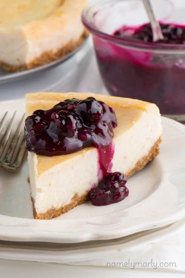 Vegetarian Cheese Cake  Vegan New York Style Cheesecake with Blueberry Topping