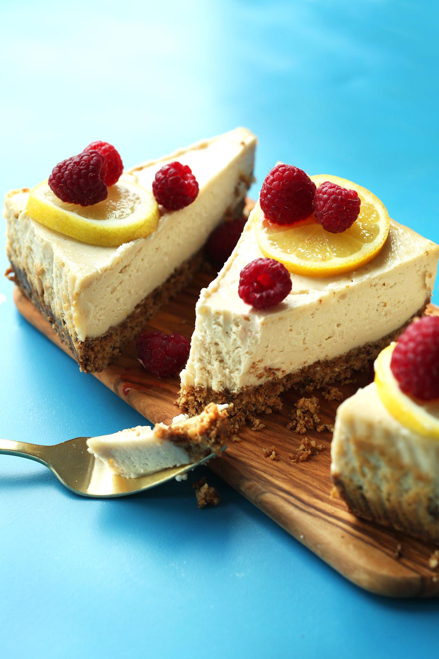 Vegetarian Cheese Cake  Easy Baked Cheesecake Vegan GF