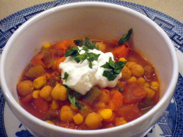 Vegetarian Chickpea Chili  Ve arian Chickpea Chili a Clean Recipe Sweet Love