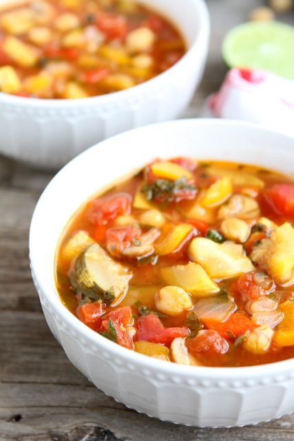 Vegetarian Chickpea Chili  Ve able Lime Chickpea Chili Picky Palate Cookbook