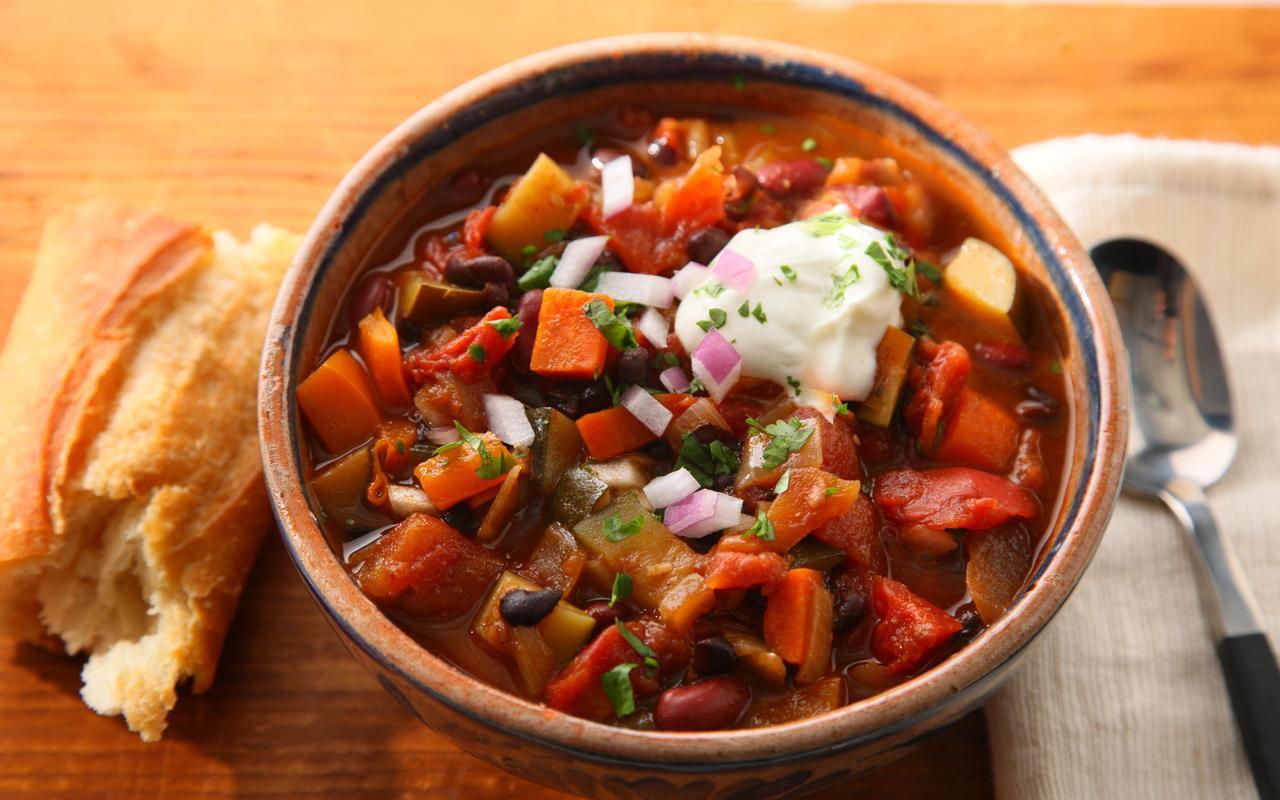 Vegetarian Chili Allrecipes  Basic Ve arian Chili Recipe Chowhound