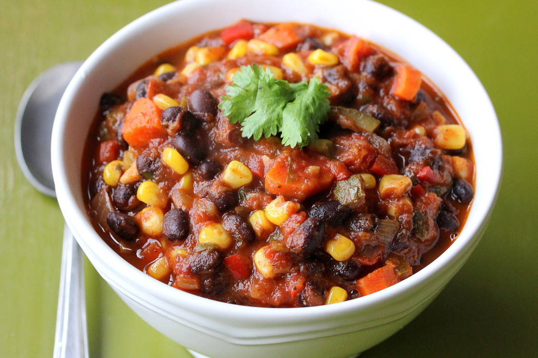 Vegetarian Chili Black Bean  Ve able & Black Bean Chili How To Feed A Loon