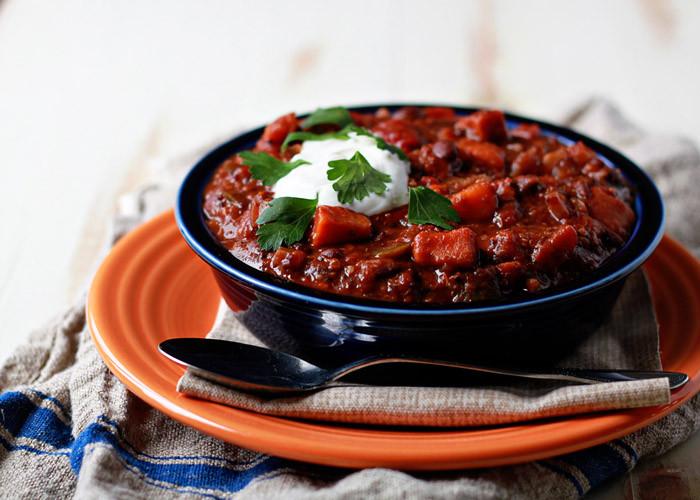 Vegetarian Chili Black Bean  Slow Cooker Quinoa Sweet Potato & Black Bean Ve arian