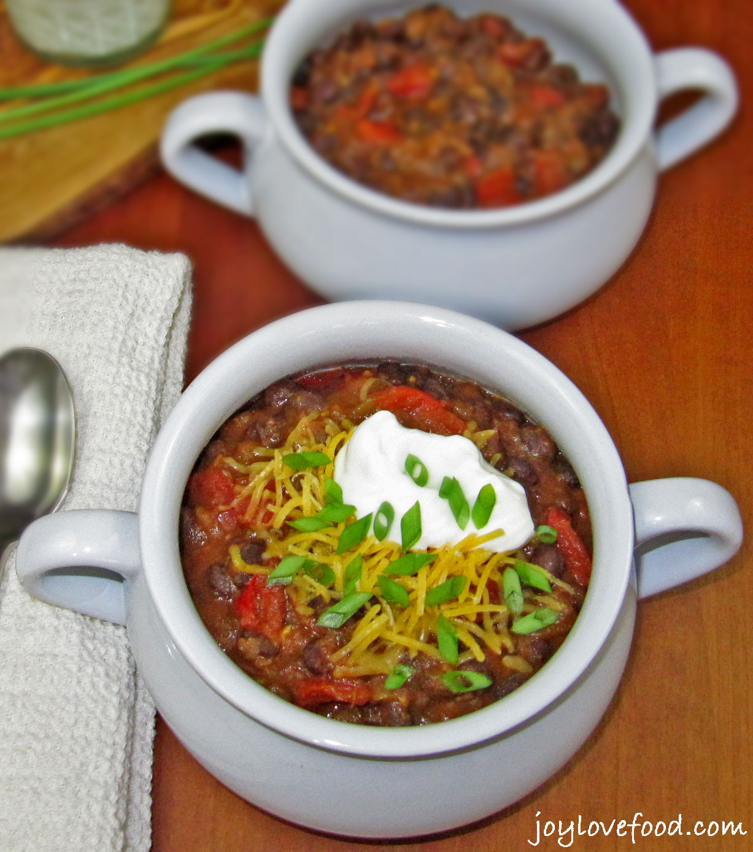 Vegetarian Chili Black Bean  Ve arian Black Bean Chili Joy Love Food