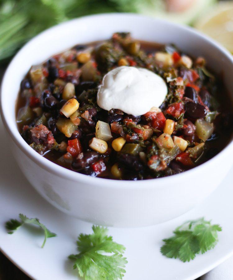 Vegetarian Chili Black Bean  Black Bean Ve able Chili