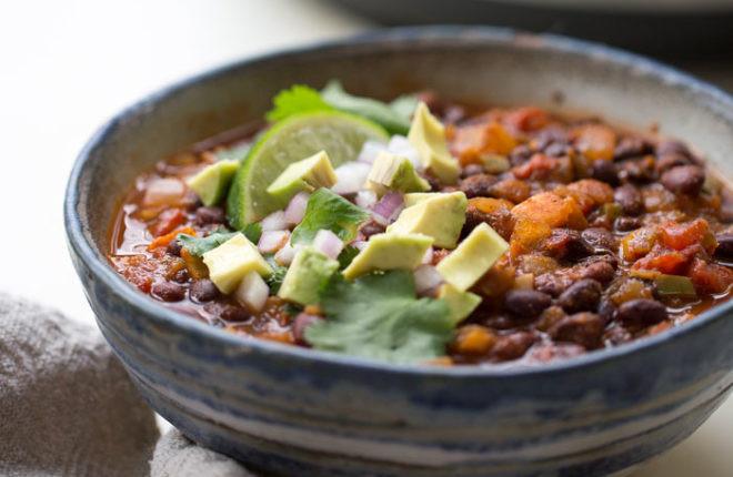Vegetarian Chili Black Bean  Simple Instant Pot Vegan Black Bean Chili Kitchen Treaty