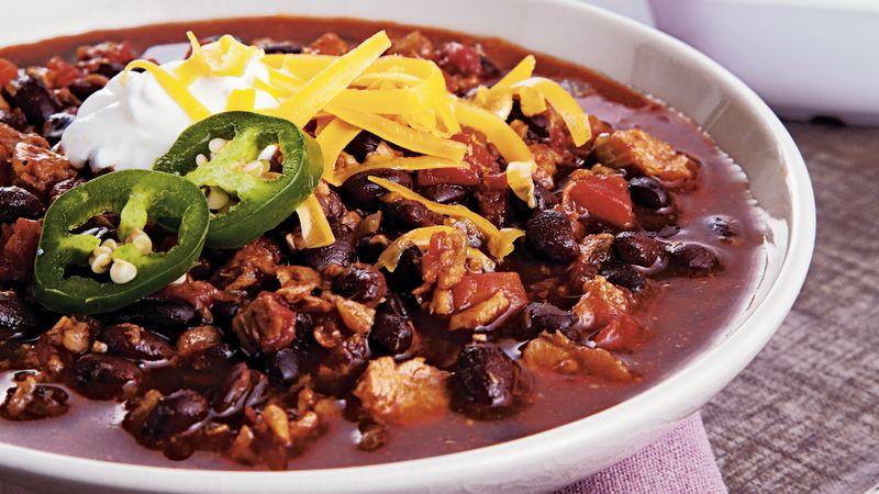 Vegetarian Chili Black Bean  Ve arian Black Bean Chili Recipe BettyCrocker