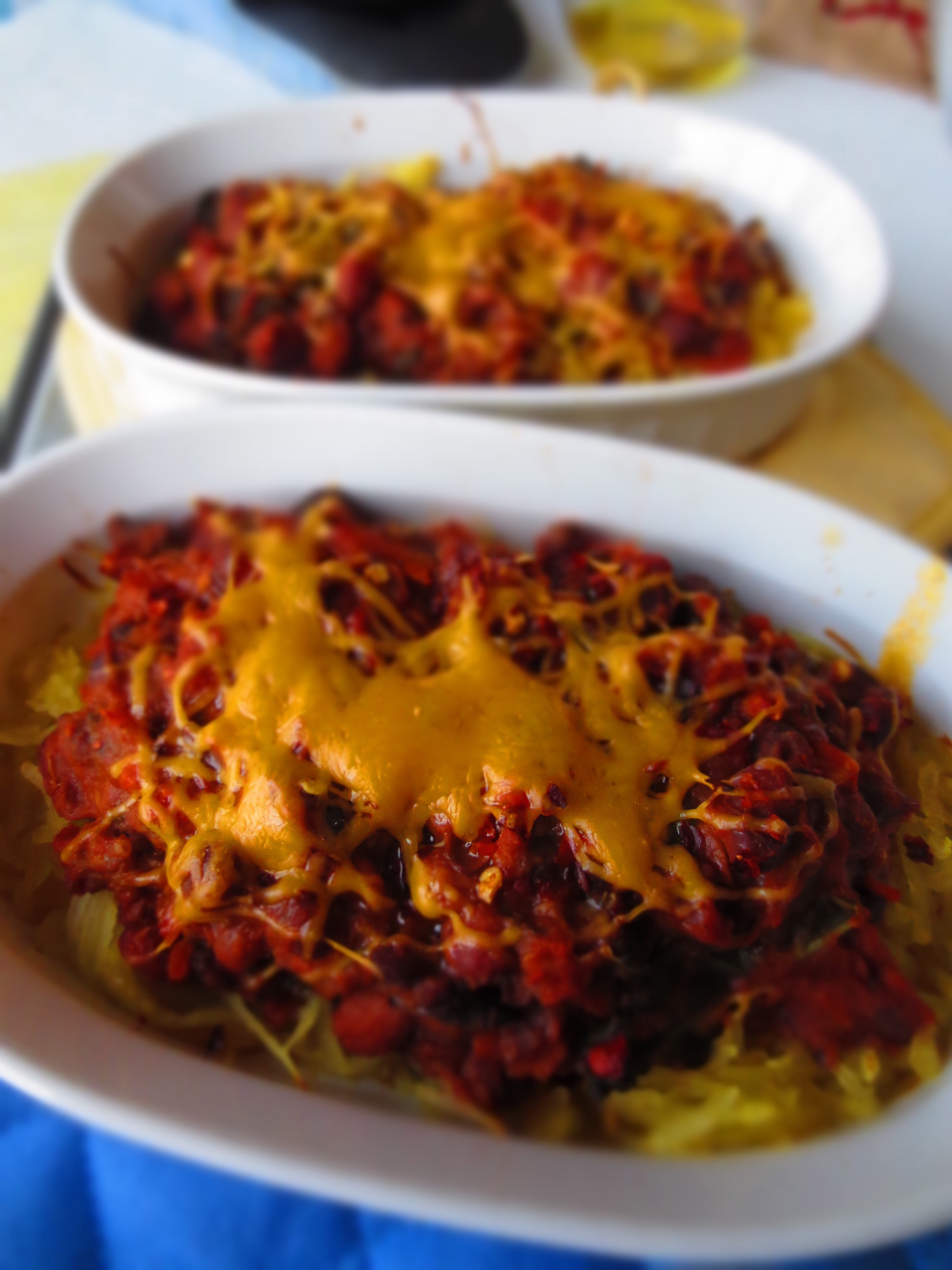 Vegetarian Chili With Squash  Easy Ve arian Chili & Spaghetti Squash