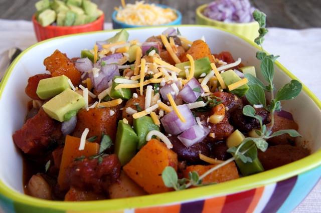 Vegetarian Chili With Squash  Butternut Squash Ve arian Chili Recipe