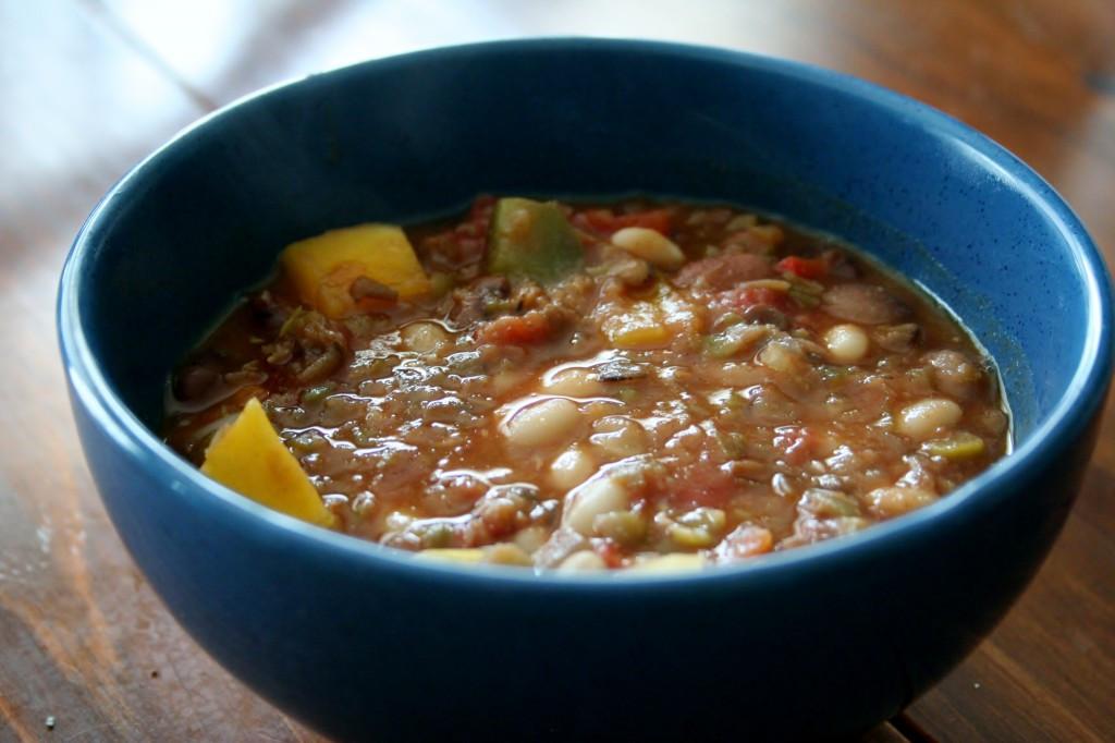 Vegetarian Chili With Squash  Ve arian Chili a k a bean & butternut squash stew
