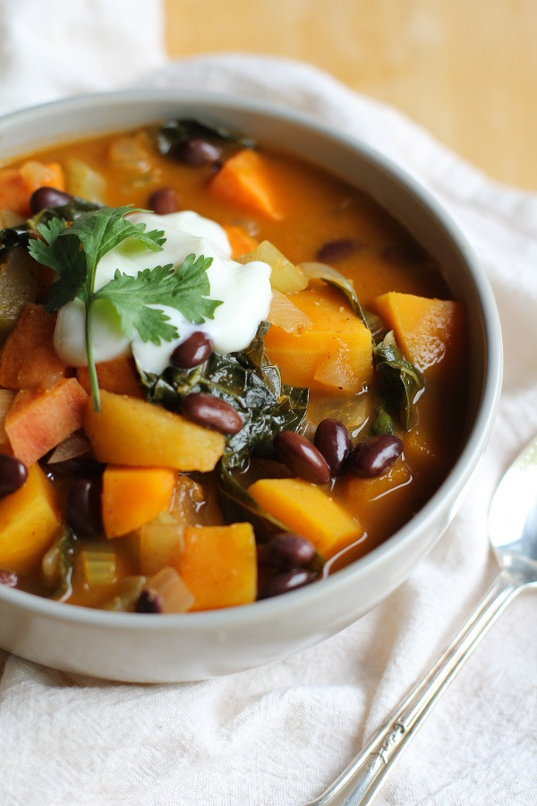 Vegetarian Chili With Squash  Fall Harvest Ve arian Chili with Kale