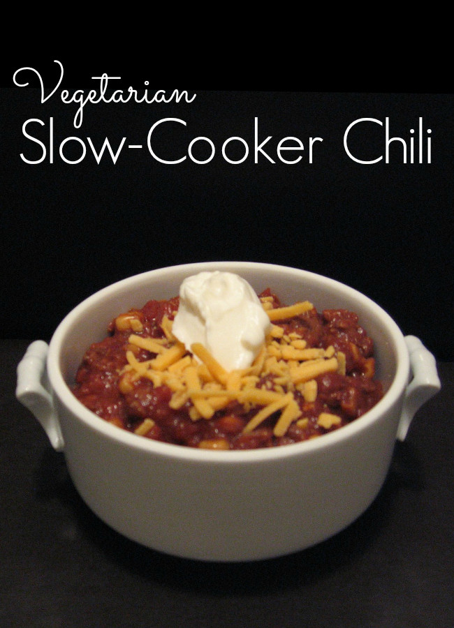 Vegetarian Crock Pot Chili Recipe  Ve arian Crock Pot Chili Recipe