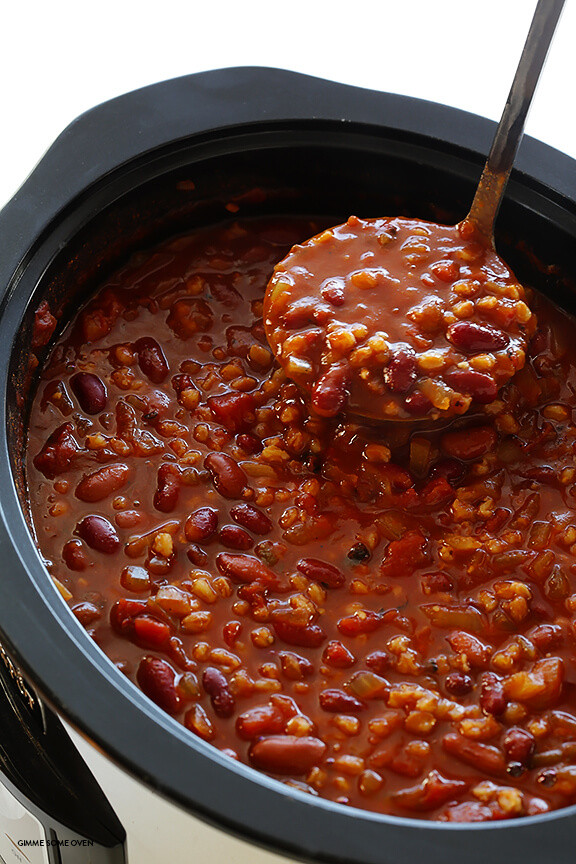Vegetarian Crock Pot Chili Recipe  Slow Cooker Ve arian Chili