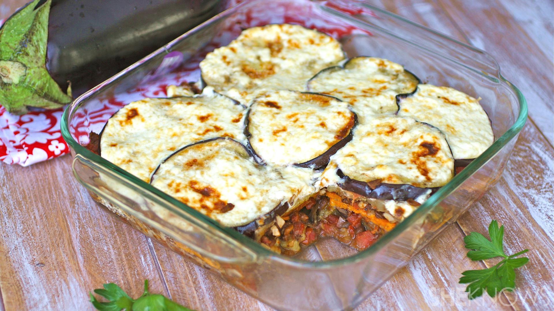 Vegetarian Dairy Free Recipes  GF Friday Gluten free moussaka loaded with Greek inspired