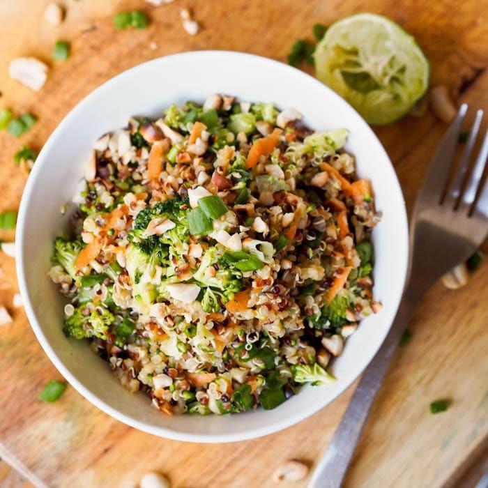 Vegetarian Dairy Free Recipes  Thai Veggie Quinoa Bowl Recipe Gluten Free Vegan