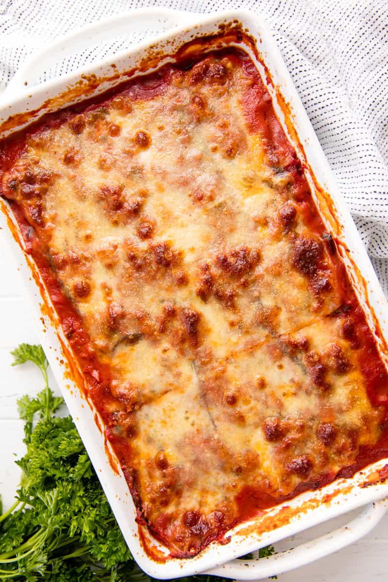 Vegetarian Eggplant Lasagna Without Noodles  Classic Eggplant Lasagna