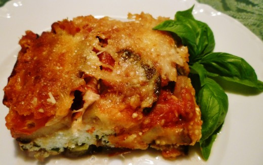 Vegetarian Eggplant Lasagna Without Noodles  Meatless 3 Cheese Eggplant Lasagna Recipe No Pasta