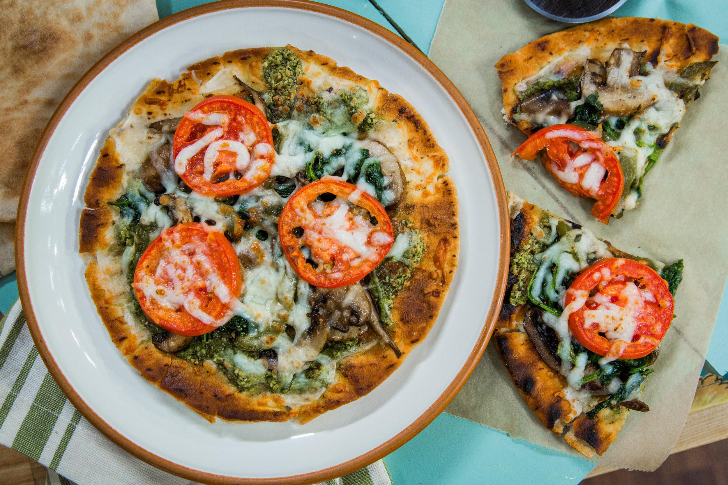 "Vegetarian Flatbread Pizza Recipes  Recipe ""Taste of Home"" Grilled Flatbread Veggie Pizza"