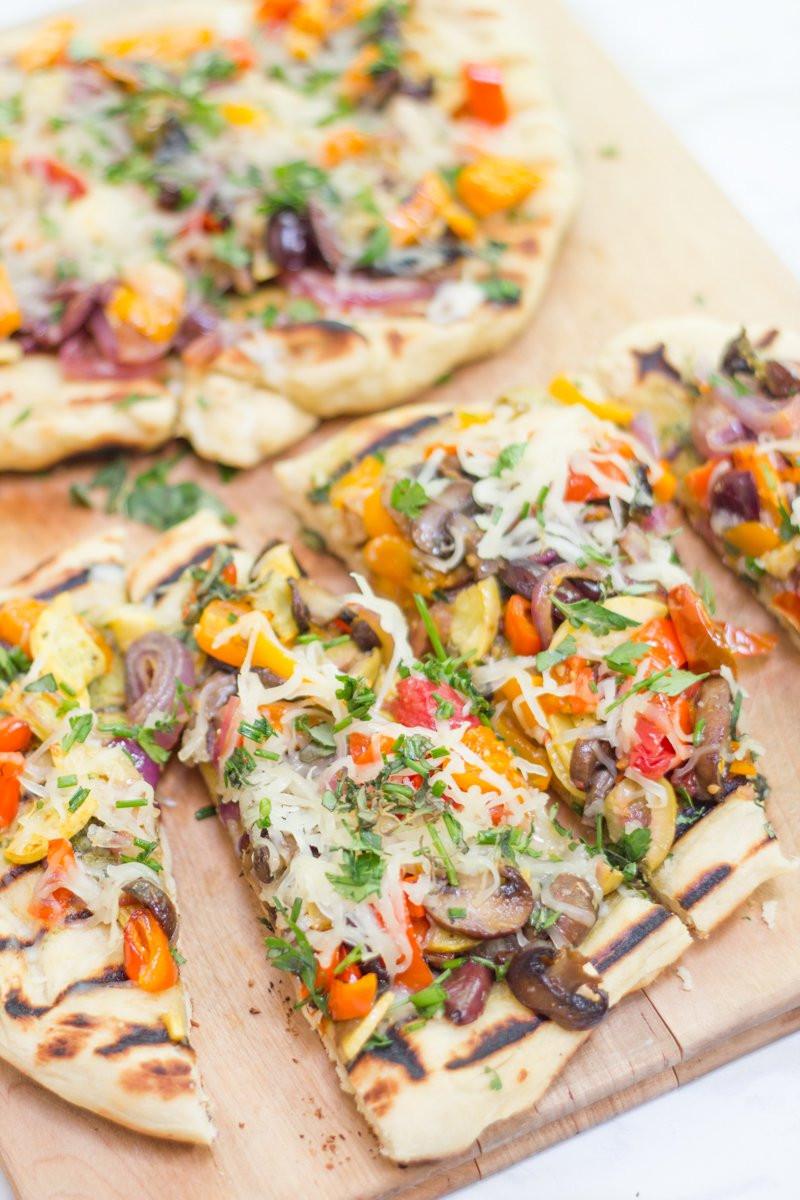 Vegetarian Flatbread Pizza Recipes  Grilled Veggie and Pesto Flatbread