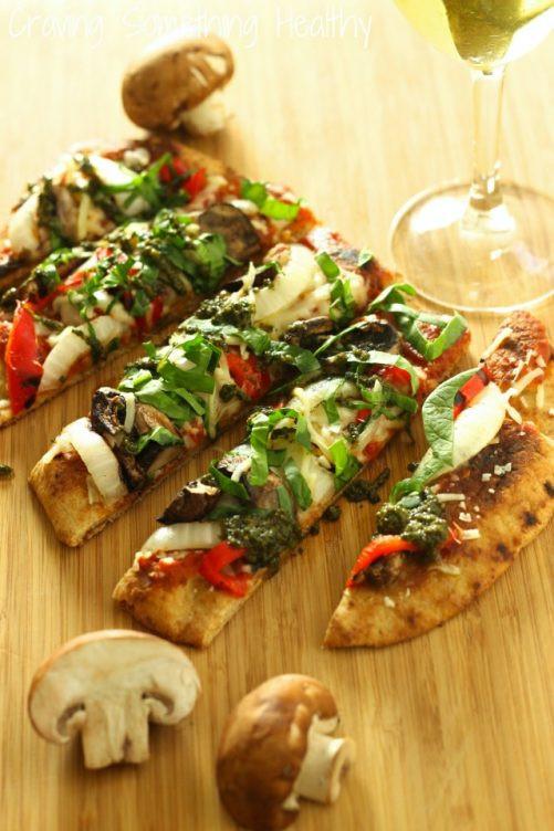 Vegetarian Flatbread Pizza Recipes  Grilled Ve able Flatbread Pizza