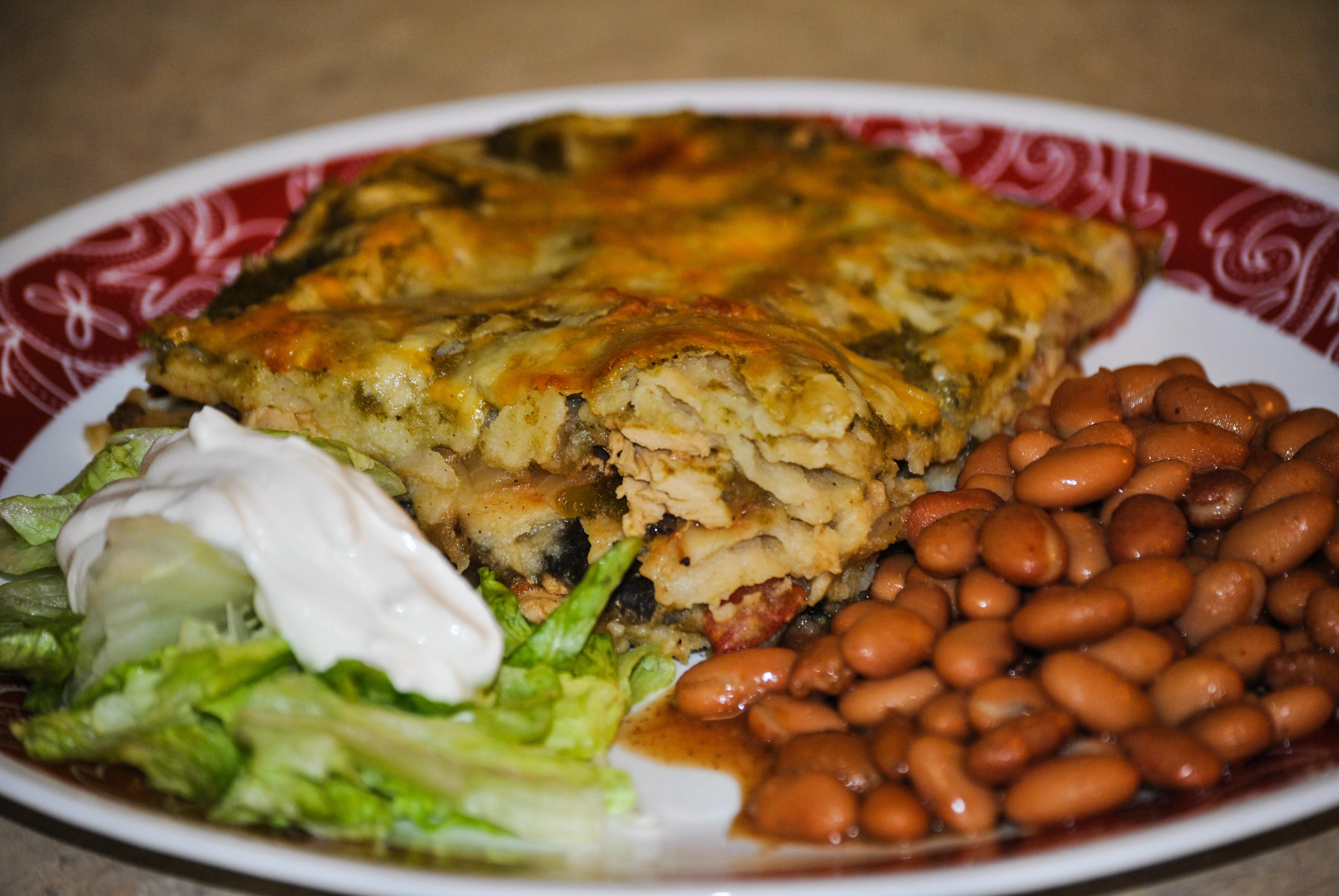 Vegetarian Green Chile Enchiladas  Ve arian Green Chile Chicken Enchilada Casserole