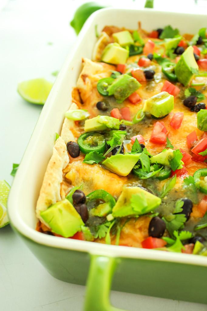 Vegetarian Green Chile Enchiladas  best ve arian green chili recipe
