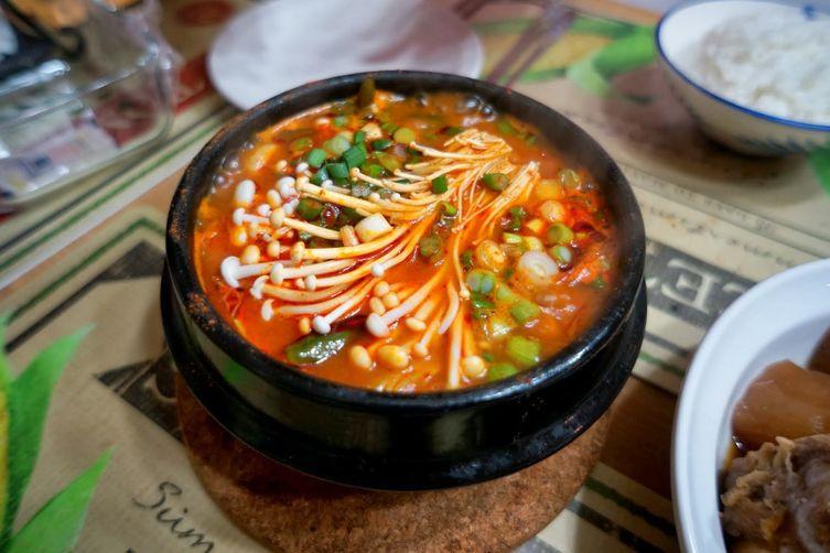 Vegetarian Korean Recipes  Ve arian Soon Tofu Jjigae Korean Silken Tofu Stew