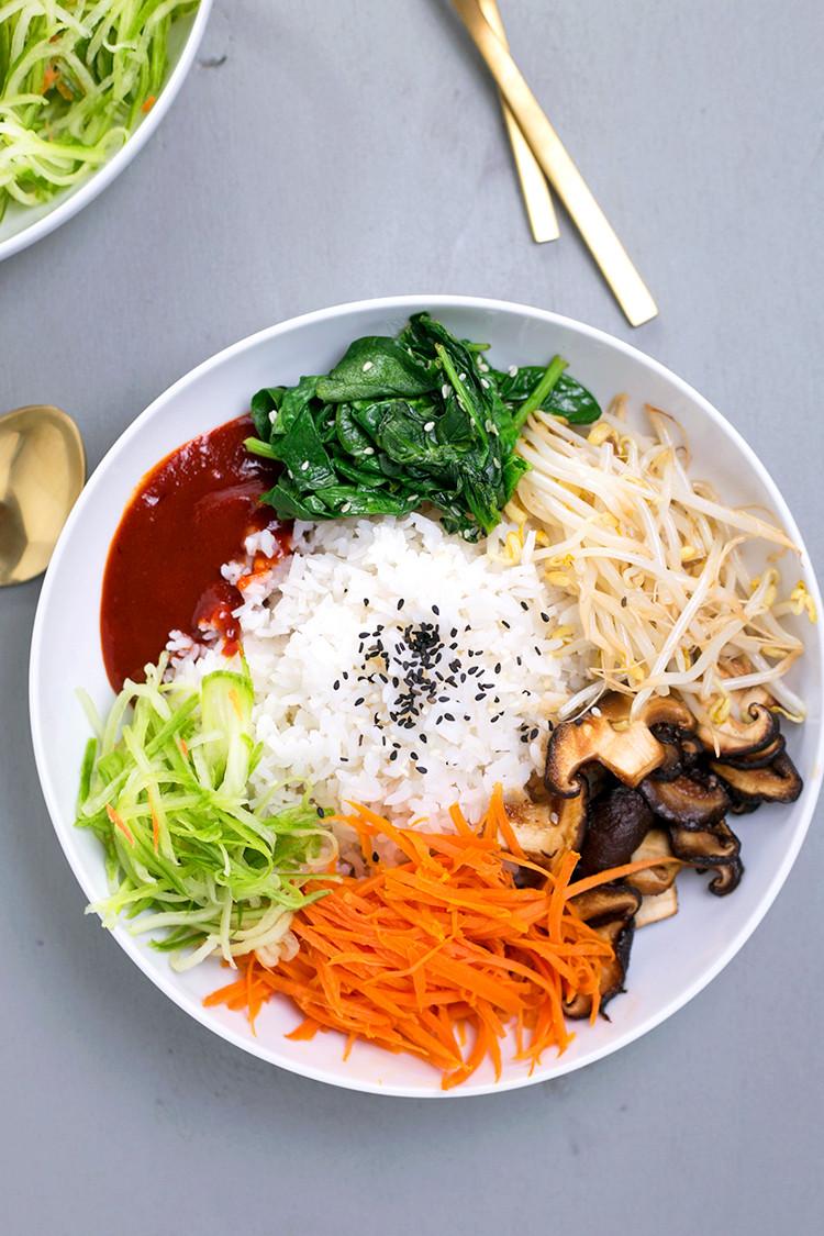 Vegetarian Korean Recipes  Vegan Korean Bibimbap