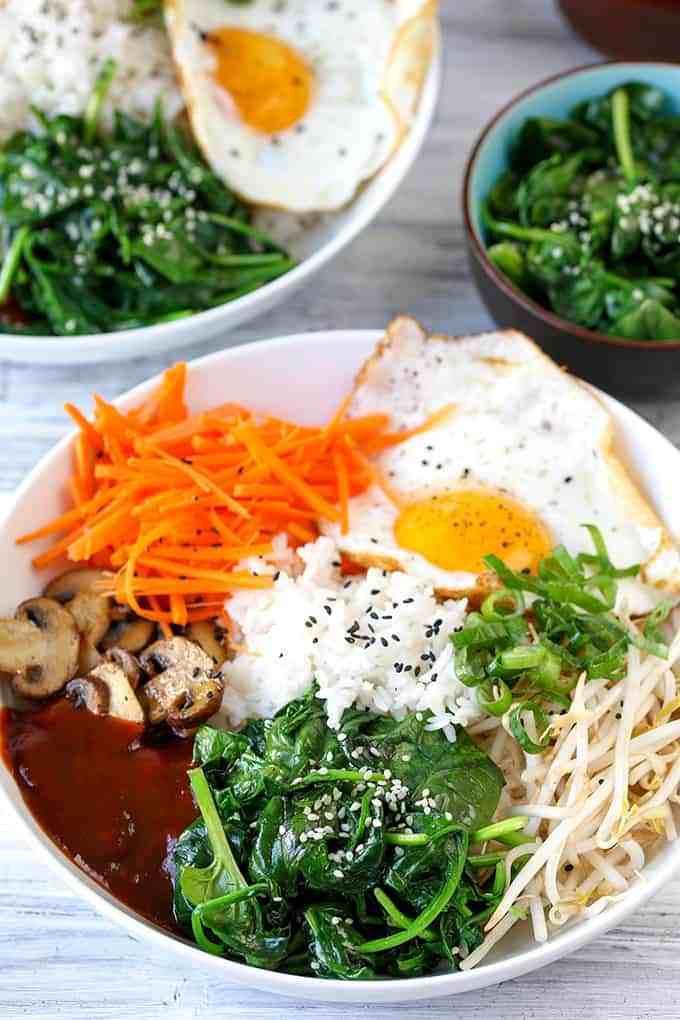 Vegetarian Korean Recipes  Ve able Bibimbap Nicky s Kitchen Sanctuary