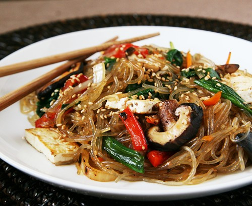 Vegetarian Korean Recipes  Ve arian Jap Chae A Guest Recipe by Alice of Savory