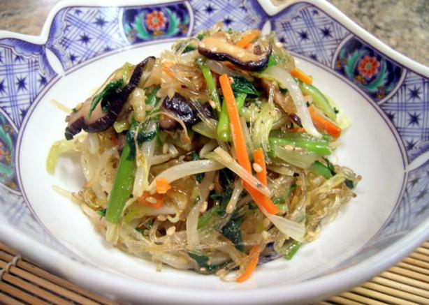 Vegetarian Korean Recipes  Korean Chap Chae Ve arian Recipe Food