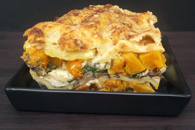 Vegetarian Lasagna Butternut Squash  Butternut Squash Spinach and Mushroom Lasagna [ve arian]