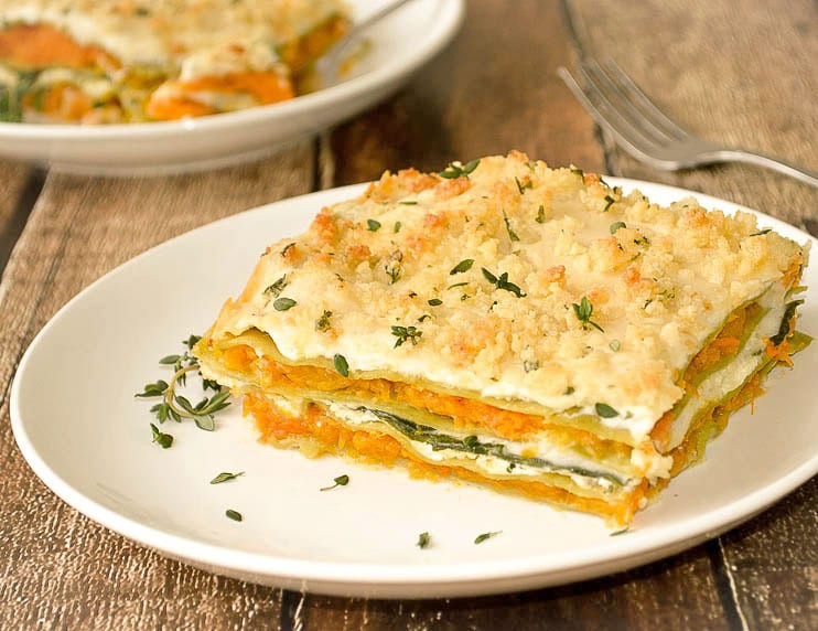 Vegetarian Lasagna Butternut Squash  Butternut Squash and Spinach Lasagna Vegan TheVegLife
