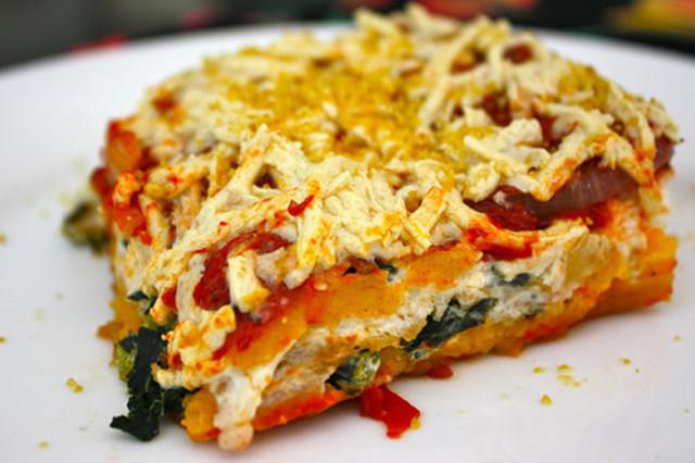Vegetarian Lasagna Butternut Squash  Butternut Squash & Kale Lasagna Veganized