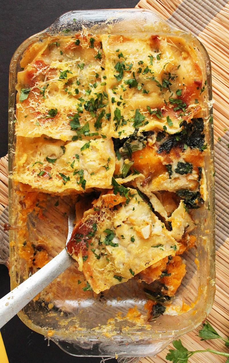Vegetarian Lasagna Butternut Squash  Vegan Butternut Squash Kale Lasagna with Bechamel Sauce