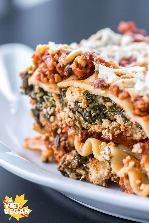 Vegetarian Lasagna With Tofu  vegan tofu spinach lasagna