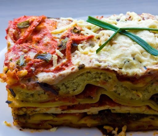 Vegetarian Lasagna With Tofu  Ve able Lasagna Ricotta Nut Cheese Marinated Tofu