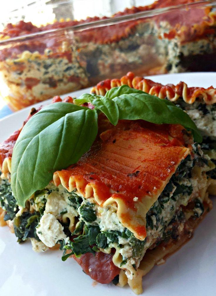 Vegetarian Lasagna With Tofu  Best 25 Tofu lasagna ideas on Pinterest