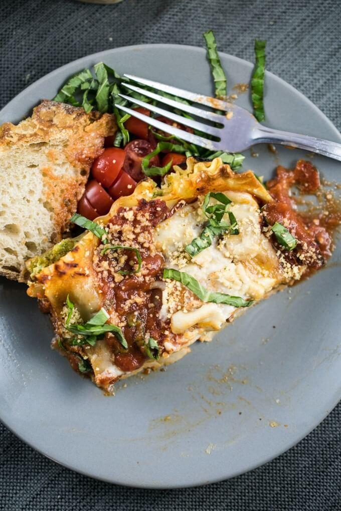 Vegetarian Lasagna With Tofu  vegan lasagna without tofu