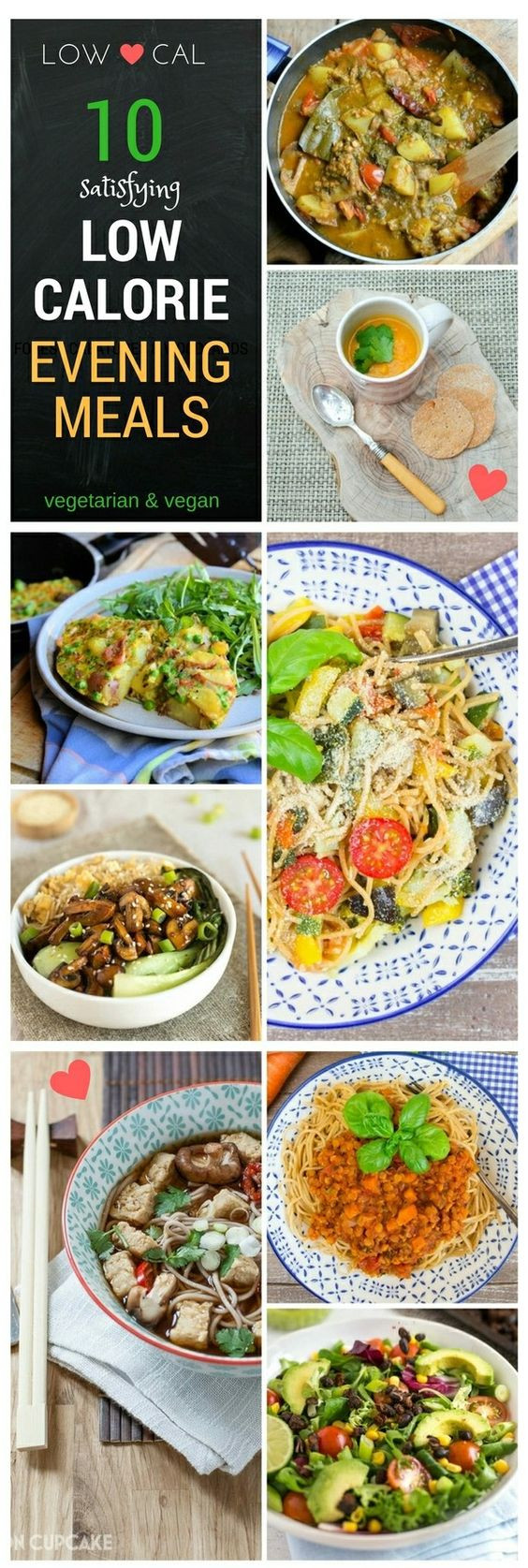 Vegetarian Low Calorie Recipes  Low calorie meals Meals and Ve arian meal on Pinterest