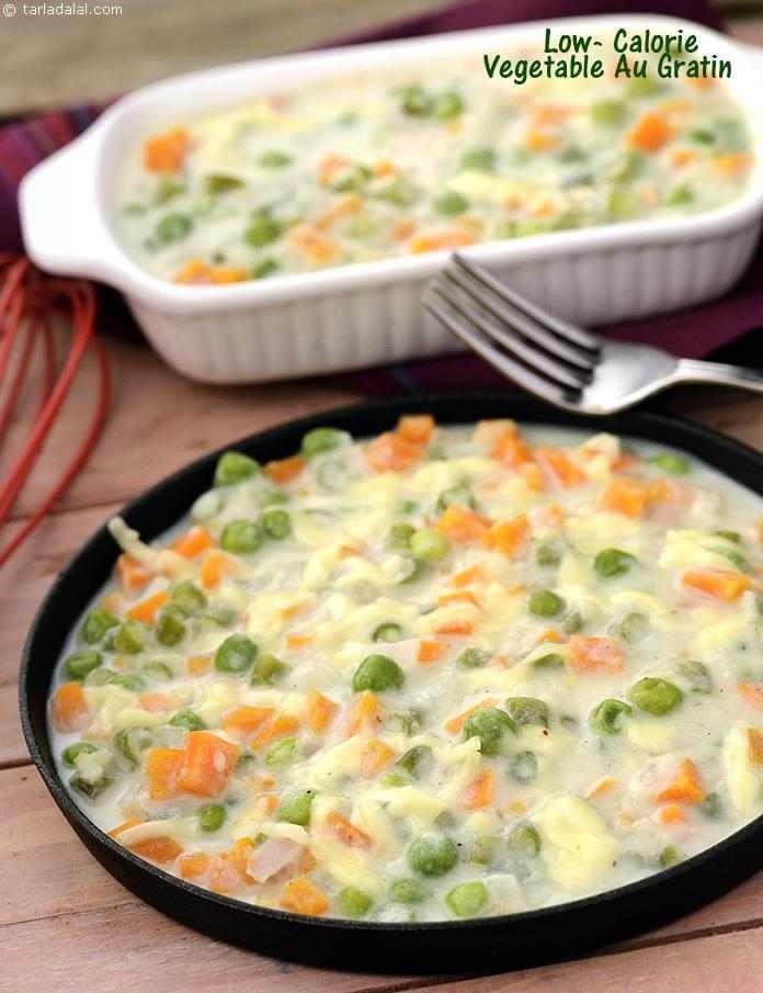 Vegetarian Low Calorie Recipes  Low Calorie Ve able Au Gratin recipe Quick Indian