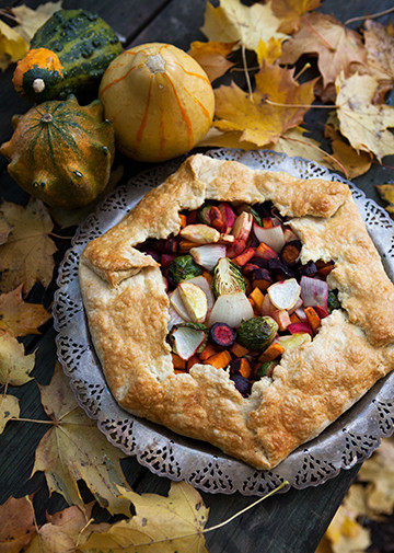 Vegetarian Main Dishes For Christmas  Today's Recipe Savory Autumn Ve able Galette